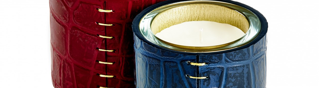 ALMA_RACHEL VOSPER CANDLE HOLDER-RED&BLUE