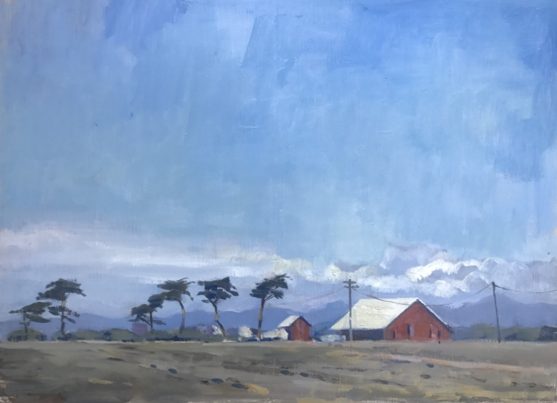 Dreweatts_Red_Farm_California_oil_on_board_30x40cm